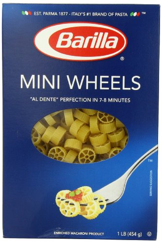 Barilla Mini Wheels Pasta, 16 Ounce Boxes (Pack of 4) (Adult Pasta compare prices)