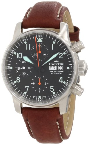 Fortis Men's 597.11.11 L.16 Flieger Automatic Brown Automatic Cronograph Leather Watch