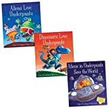 Claire Freedman Underpants Picture Book Trio, 3 books, RRP £17.97 (Aliens in Underpants Save the World; Aliens Love Underpants; Dinosaurs Love Underpants).