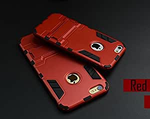 iPhone 5 5S Back Case Cover + Get F&B Screen Guard FREE,Anti-scratch Drop Protection Ultra Thin Slim Fit Dual Layered Heavy Duty Armor Hybrid PC+Soft TPU Protective Shell Back Case Cover for Apple iPhone 5s, iPhone 5 Back cover & case {RED}