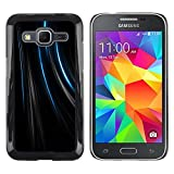 TopCaseStore Snap On Hard Back Shell Rubber Case Protection Skin Cover Lines Black Velvet Fabric Fashion Samsung Galaxy Core Prime SM G360