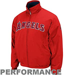 MLB Mens Los Angeles Angels Therma Base Premier Pro Scarlet Pro Navy Long Sleeve... by Majestic