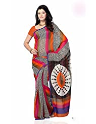 Shariyar Multi Color Art Silk Printed Saree PRG348
