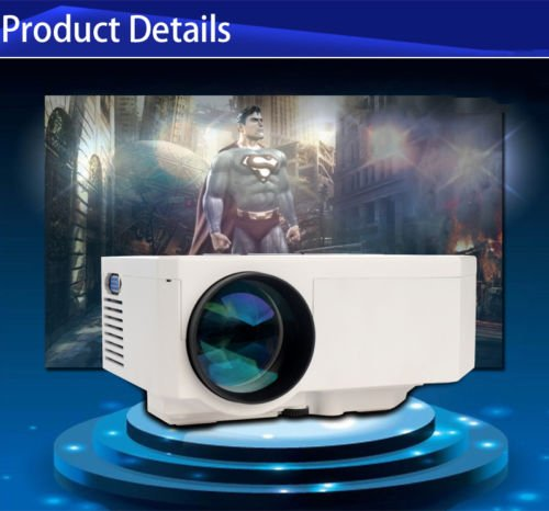 Aometech Multi-Media Hd Portable 1080P Led Projection Micro Projector,Video Projector,Home Cinema Theater