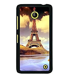 printtech Paris Tower Animation Back Case Cover for  Nokia Lumia 630 3G