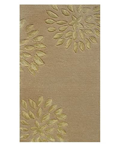 Pop Accents Charlotte Scatter Rug, Cream/Gold, 16 x 27