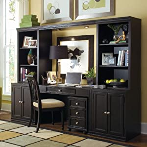 Amazoncom Camden Black Home Office Wall Unit American