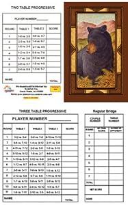 Bridge Tallies - Bear - (12 Pack) 2 & 3 Table Progessive