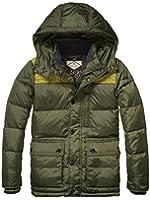 Scotch Shrunk Jungen Winter Daunenjacke, Mid length down jacket military