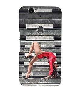 EPICCASE Gymnastic Girl Mobile Back Case Cover For Huawei Nexus 6P (Designer Case)