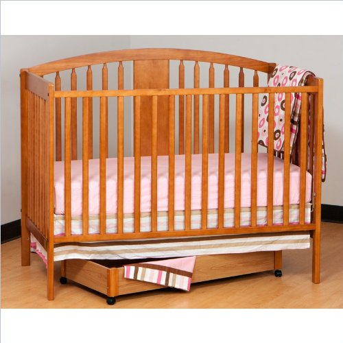 Stork Craft Hollie Fixed Side Convertible Crib, Oak front-988832