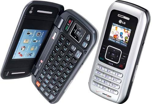 Silver LG VX9900 ENV QWERTY Camera Cell Phone for Verizon Wireless - No Contract required