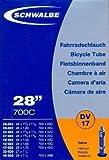 """SCHWALBE Fahrradschlauch DV17 mit Blitzventil ~ 27""""/28"""" ~ 28/47-622/635 mm (28 x 1 1/4 - 1,75 Zoll)"""