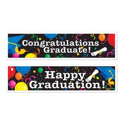 Graduation Banners (asstd designs) Party Accessory  (1 count) (2/Pkg)