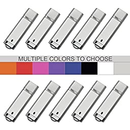 KEXIN 10pcs USB Flash Drive Pen Drive Memory Stick 8GB 8G Silver
