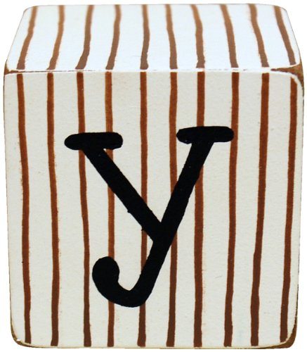 New Arrivals Letter Block Y, Chocolate/White - 1