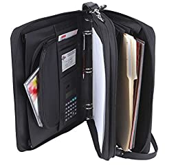 Padfolio 3-Ring Binders, Folder File Divider Organizer Planner w/ Smart Handle, Briefcase Luggage Portfolio (FREE RETURN)