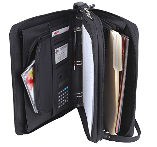 Padfolio 3-Ring Binders, Folder File Divider Organizer Planner w/ Smart Handle, Briefcase Luggage Portfolio (FREE RETURN) (Machinery Handle compare prices)