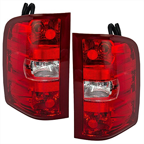Driver and Passenger Taillights Tail Lamps Replacement for Chevrolet GMC Pickup Truck 25958482 25958483 (2008 Silverado Taillights compare prices)
