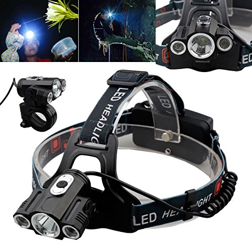 18000Lm Cree 3x T6 CREE XML LED Rechargeable 18650 Headlamp Headlight Head Torch (Food For Fifty 13th Edition compare prices)
