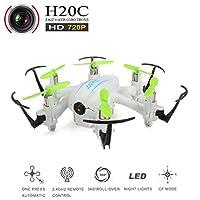 REALACC H20C Hexacopter Mini Drone with 720PHD Camera Headless Mode 3D Rolling Remote Control Nano Quadcopter RTF (White)