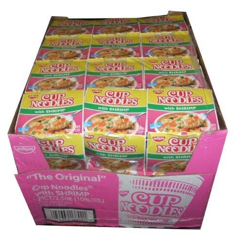 Nissin the Original Cup Noodles with Shrimp Twenty-four 2.5 Ounce Ramen Cups