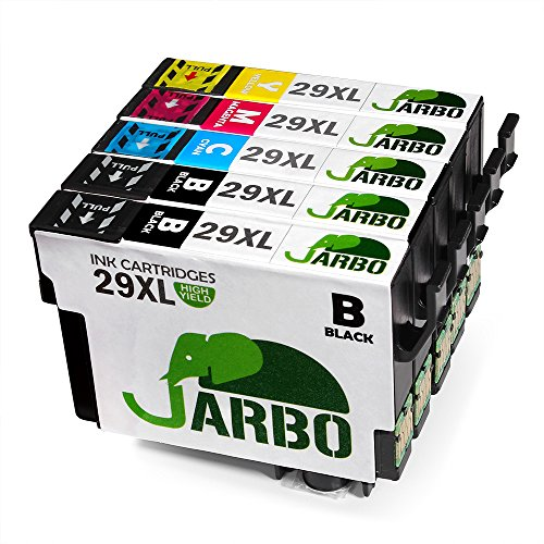 JARBO Compatible Epson 29 XL Ink Cartridges with New Updated Chip Compatible with Epson Expression Home XP-235 XP-332 XP-335 XP-432 XP-435 (2 Black,1 Cyan,1 Magenta,1 Yellow)
