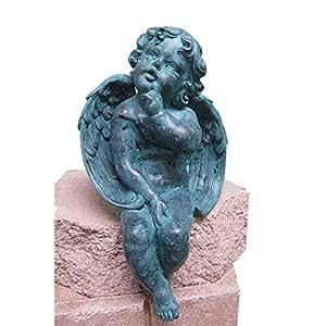 Welland Garden Angel Statue, Antique Finish