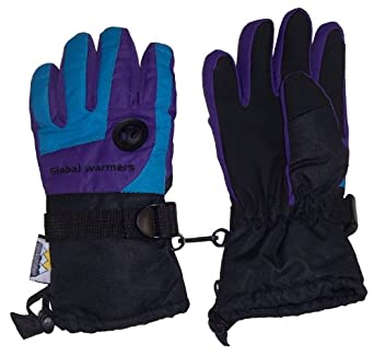 N'ice Caps Womens Thinsulate and Waterproof Clorblocked Ski Glove with Air Hole