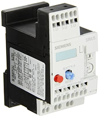 Siemens 3RU11 16-0HC1 Thermal Overload Relay, For Separate Installation, Size S00, 0.55-0.8A Setting Range