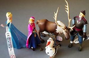 Bullyland Disneys Die Eiskönigin - Völlig unverfroren - Komplettsatz 5 Figuren