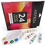 Watercolor Paint Set 24-Colors (Aluminum tubes, 24 x 0.4oz)