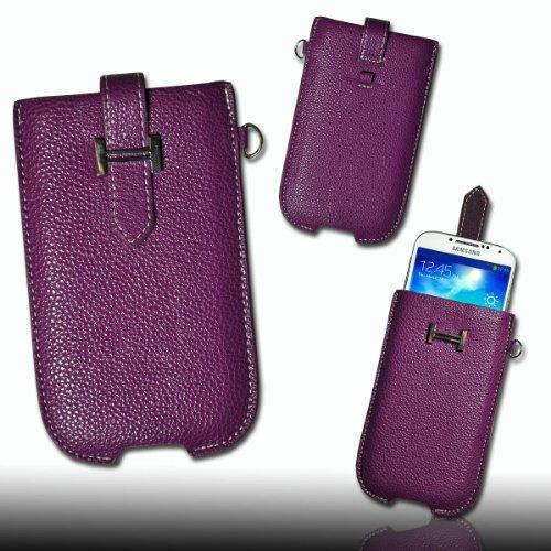 Handy Tasche Kunstleder lila/violett M55 Gr.3 für Samsung C3312 Rex60 / S5222R Rex80 / Galaxy Young S6310 / Galaxy Young Duos S6312 / Galaxy Pocket Plus S5301 / Samsung Galaxy Pocket Neo S5310 / Alcatel OT 903D / Alcatel OT Star 6010D