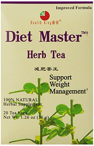 Health King  Diet Master Herb Tea, Teabags, 20 Count Box