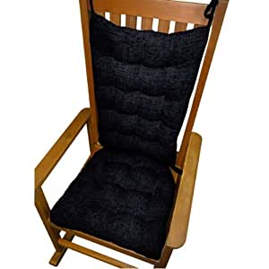Rocking Chair Cushion Set Great Deals Midnight Chenille Navy