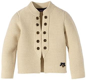MEXX Mädchen Strickjacke Kids Girls Sweater Flat Knit, Gr. 116 (Herstellergröße: M), Weiß (Birch)