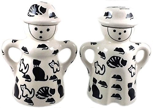 polish-pottery-man-woman-salt-and-pepper-set-in-pattern-kotc-cats-and-mice-black-and-white-by-poughk