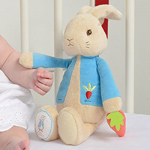 Beatrix Potter-Carillon con Peter il coniglio di peluche, 28 cm