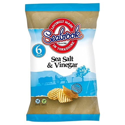 Seabrook Crinkle Cut Crisps Salt & Vinegar 6 x 25g