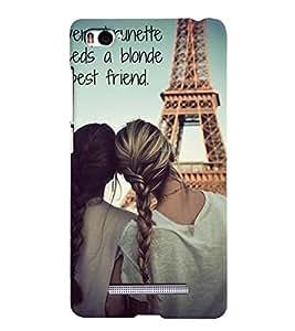 Best Friend Quote Case Back Case Cover for Xiaomi Redmi Mi4i