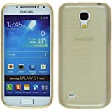 Silikon Hülle für Samsung Galaxy S4 Mini - brushed gold - Cover PhoneNatic Schutzhülle Case
