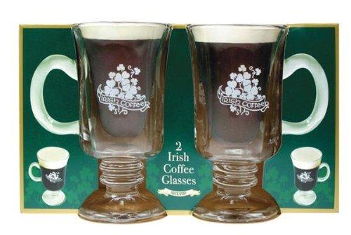 Irish Coffee Glasses with Handle, Set of 2 (Irish Coffee Mugs With Recipe compare prices)