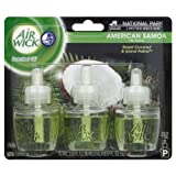 Air Wick Scented Oil Plug In Air Freshener, National Park Collection, American Samoa Scent, Triple Refills, 0.67 Ounce