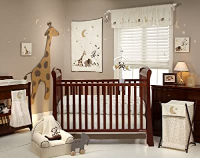 Dreamy Nights 4 Piece Neutral Crib Bedding Set from NoJo