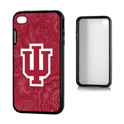 Indiana Hoosiers Iphone 4/4S Bumper Case Paisley Ncaa