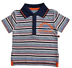 Babeez Baby Boy Yarn dyed Striped Polo T-Shirt to fit height 86 - 92cms (100% Cotton)