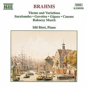 Brahms: Theme And Variations / Sarabandes / Gavottes