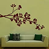 Flowers On Branch Wall Sticker Decal - B00RTJ69QE