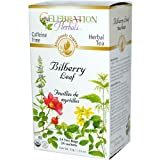 Celebration Herbals Organic Bilberry Leaf Caffeine Free -- 24 Herbal Tea Bags