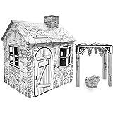 Vineyard Villa Cardboard House w/ Markers